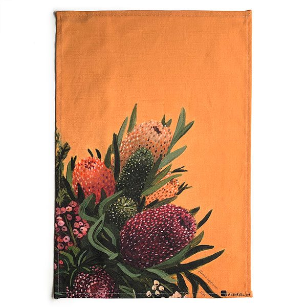 Australian Flowers Native Tea Towel