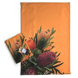 Australian Flowers Native Tea Towel