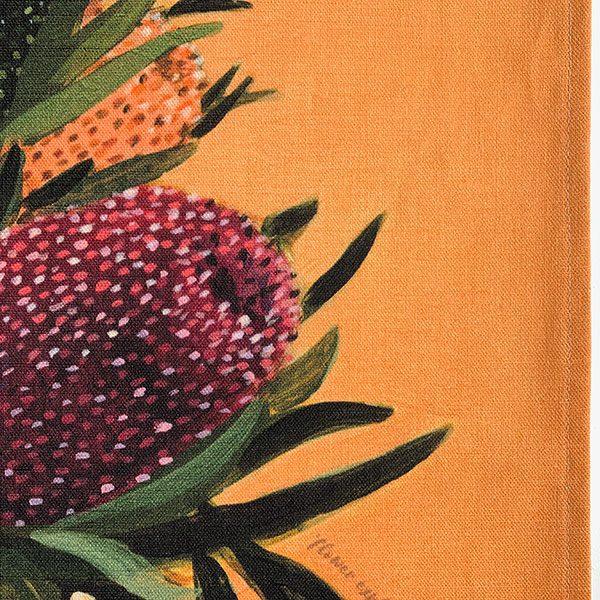 Australian Flowers Native Tea Towel Detail