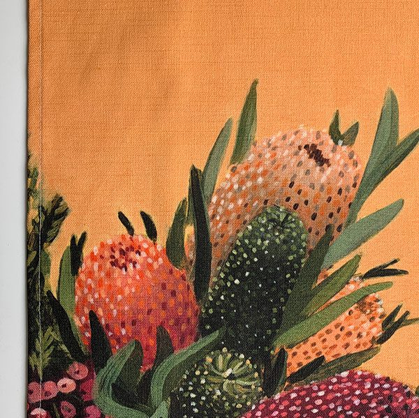 Australian Flowers Native Tea Towel Detail