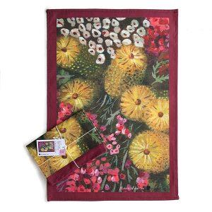 Australian Flower Kitchen Tea Towel