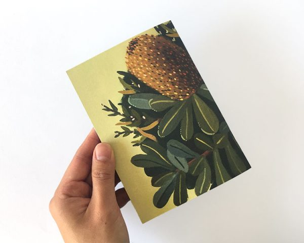 Notebook Green Banksia back cover