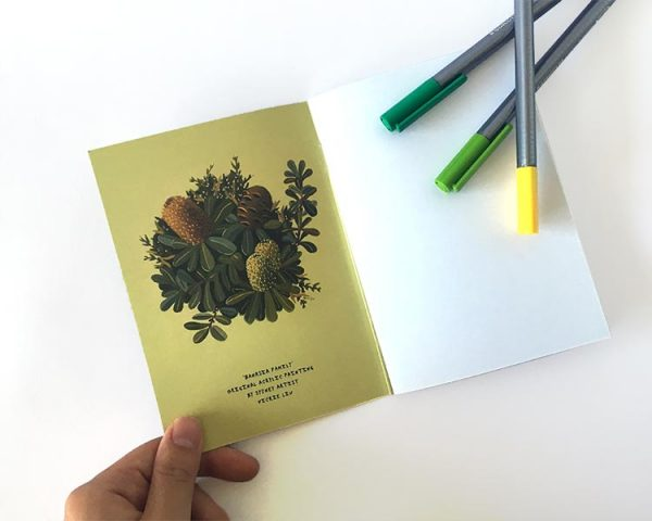 Notebook Green Banksia inside cover