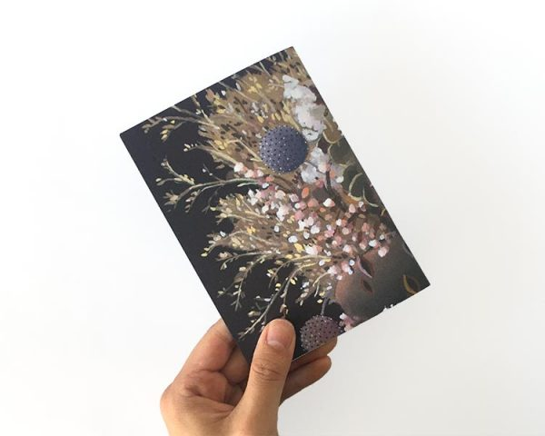 Notebook Purple Banksia back cover