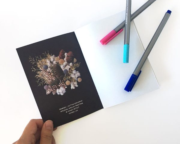 Notebook Purple Banksia inside cover