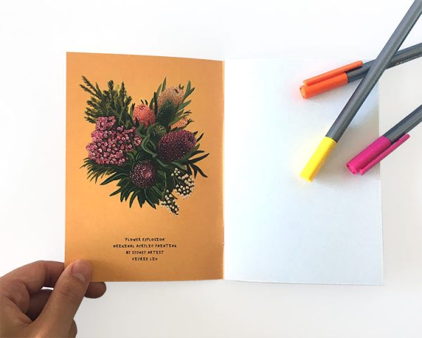 Notebook yellow banksia inside cover