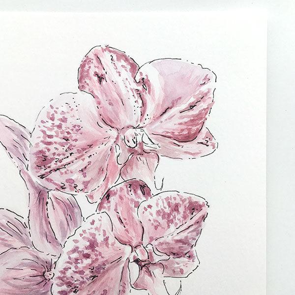 Purple Flower Watercolour Painting