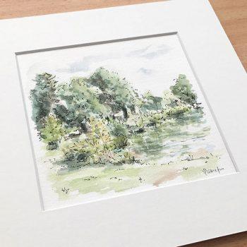 Centennial Park Landscape Painting