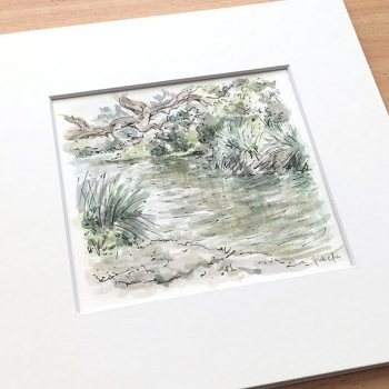 Centennial Park Pond Watercolour Painting