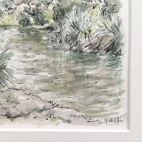 Centennial Park Pond Watercolour Artwork