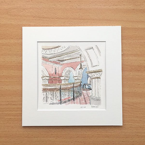 Queen Victoria Building Watercolour Painting