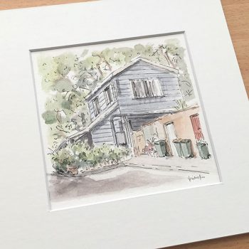 Surry Hills Laneway Cottage Painting
