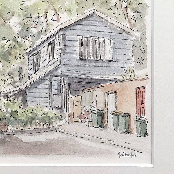 Surry Hills Laneway Cottage Watercolour