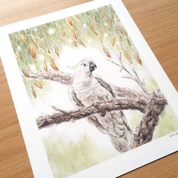 Cockatoo Australian Bird Art Print