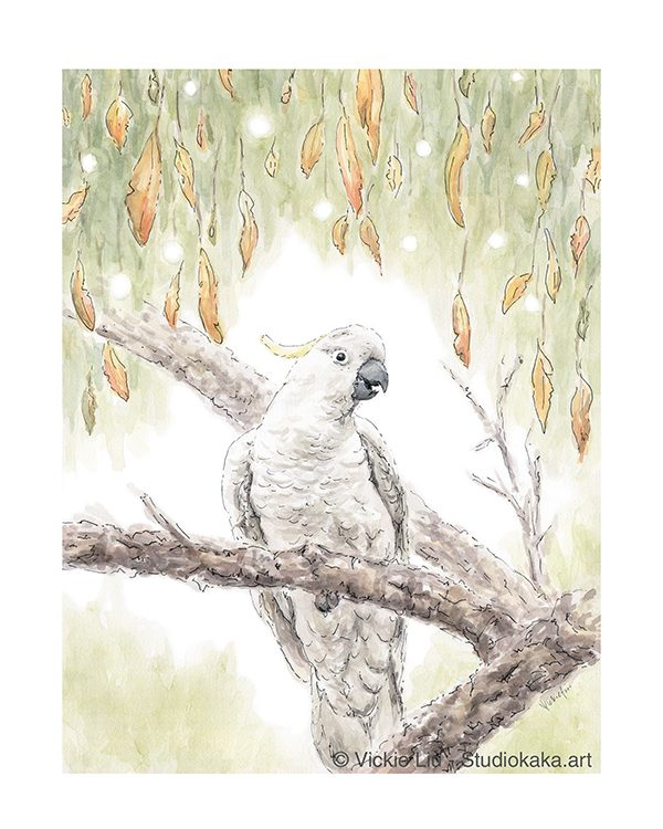 Cockatoo Bird Artwork