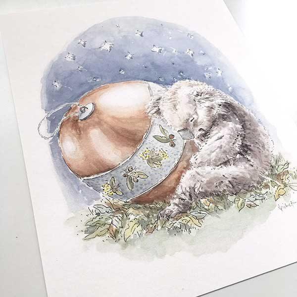 Australian animal Christmas print