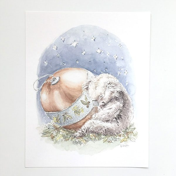 Christmas Koala Art Print