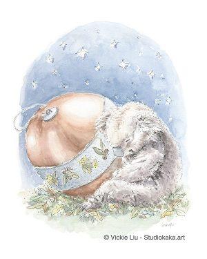 Christmas Koala Fine Art Print