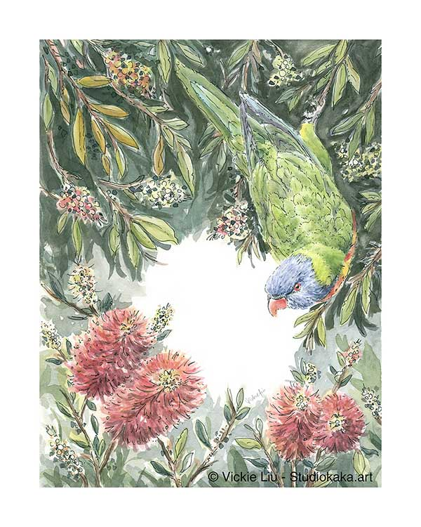 Rainbow Lorikeet Bird Artwork