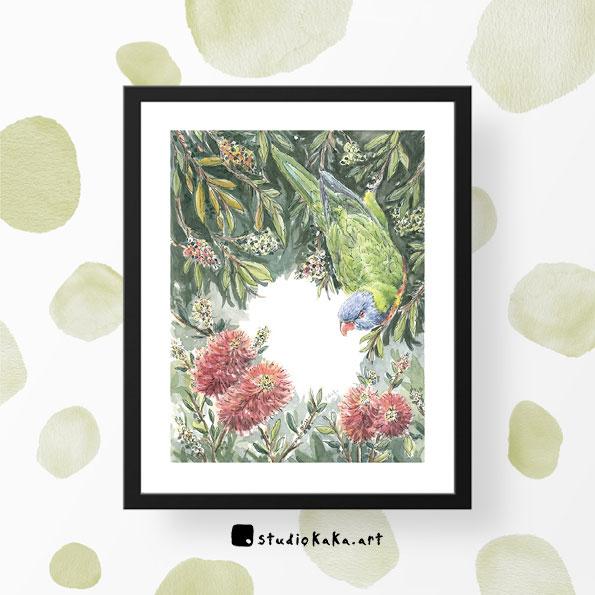 Rainbow Lorikeet Bird Print