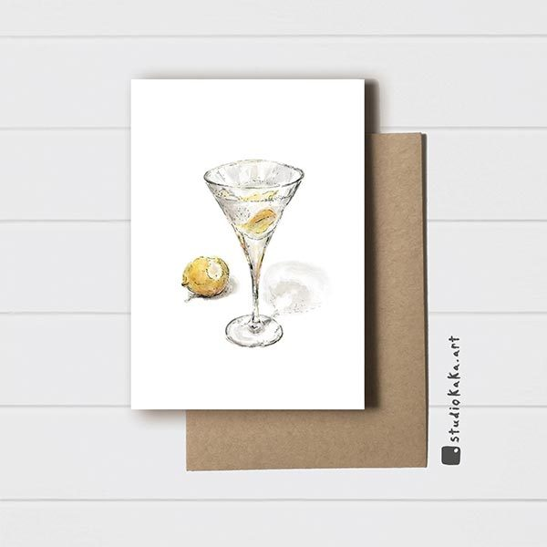 Vodka Martini Card
