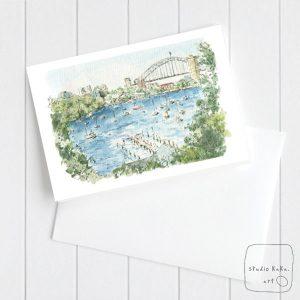 Sydney Harbour Watercolour Card
