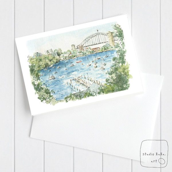 Sydney Harbour Watercolour Card