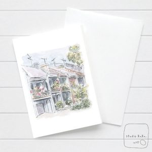 Sydney terrace house card