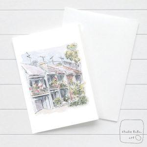 Sydney terrace house card