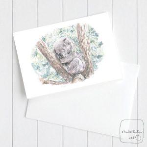 Baby Koala Art Card