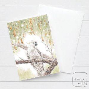 Cockatoo Watercolour card