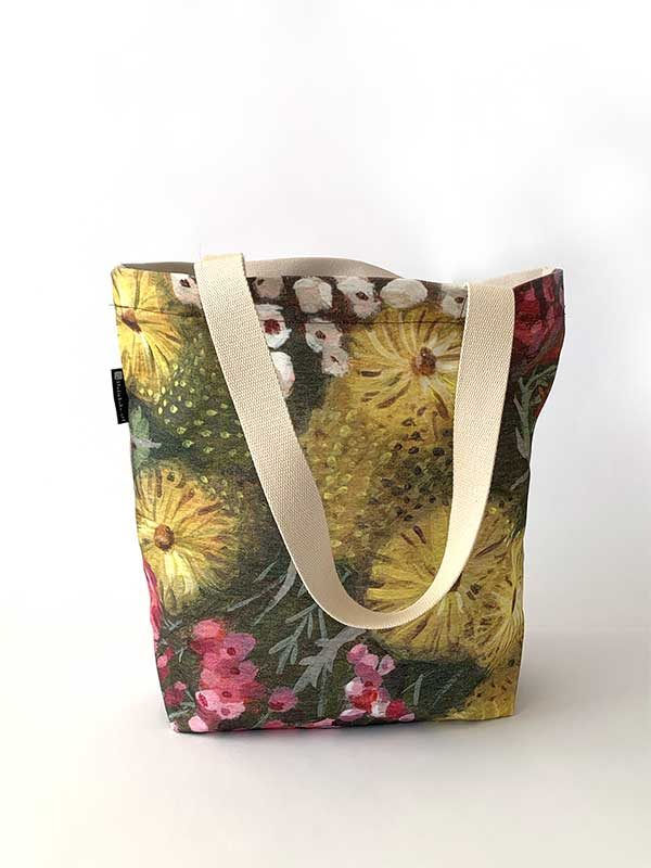 australian botanical tote front