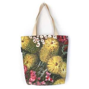 australian flower tote bag