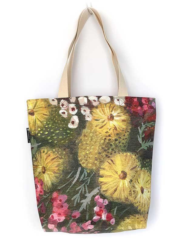 Australian flower tote bag