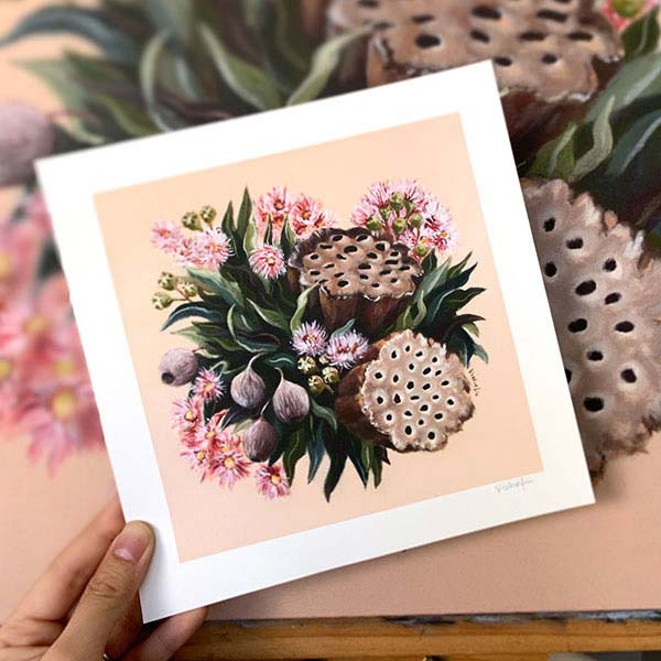gumnut blossoms floral print