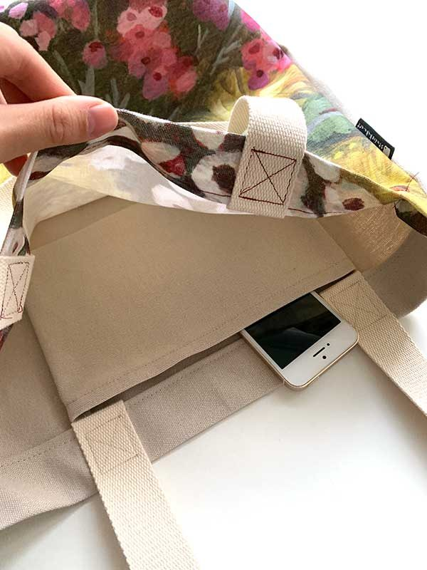 australian banksia tote bag inside pocket