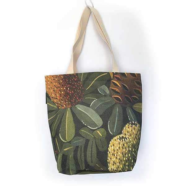 7fb3cdd71 Banksia Family - Green Botanical Tote Bag - Canvas | Studio KaKa