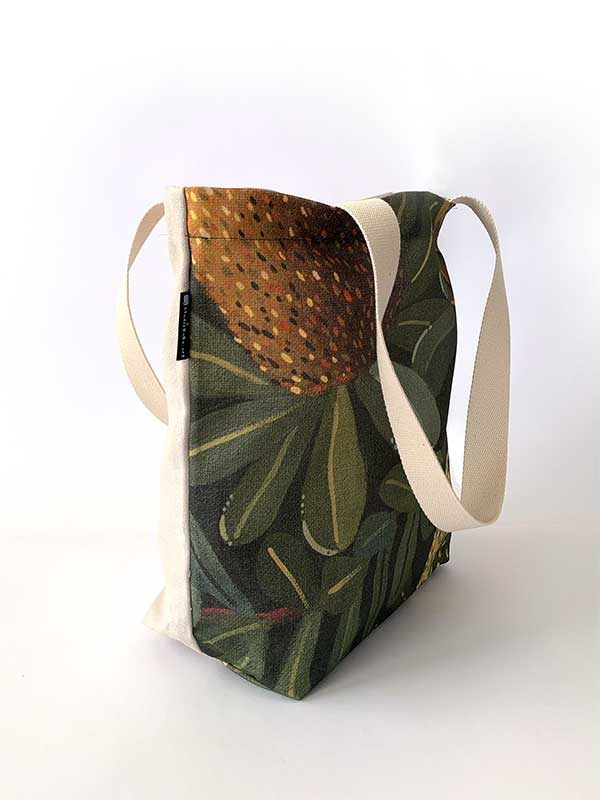 australian botanical tote bag side