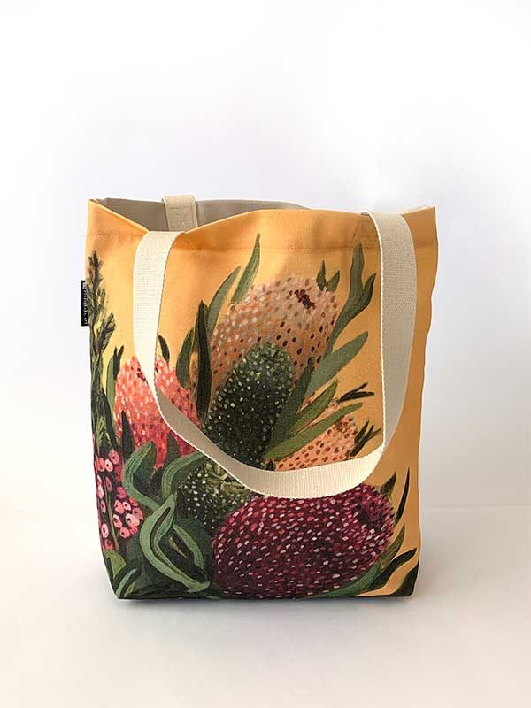 australian native floral tote front