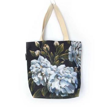 blue rose handmade bag