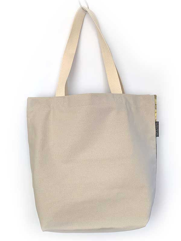 handmade canvas tote bag back