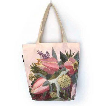 pink floral bag