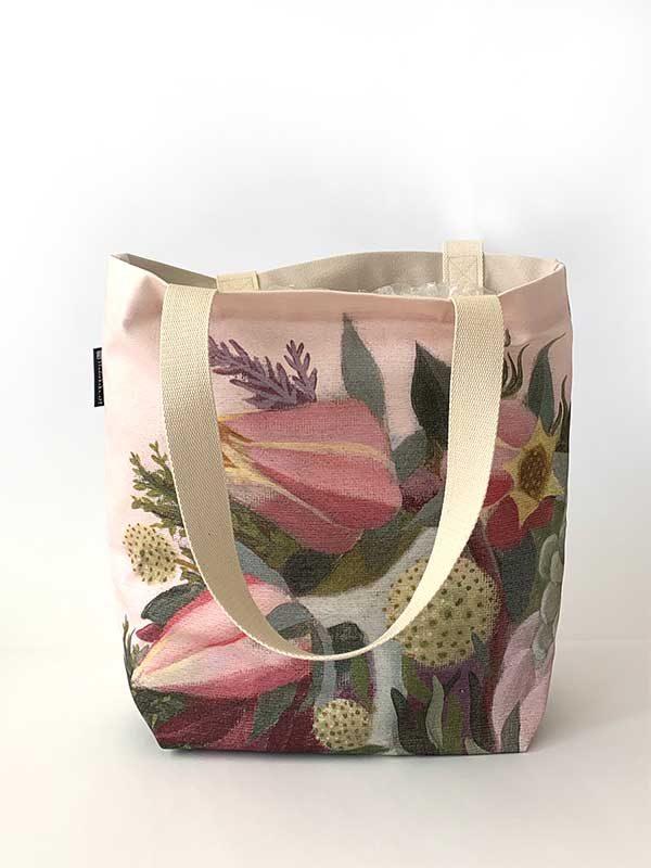 pink floral bag front
