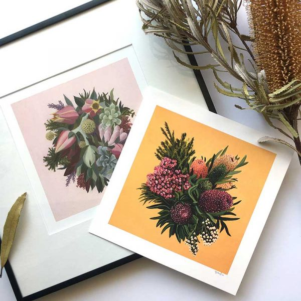 framed floral art example