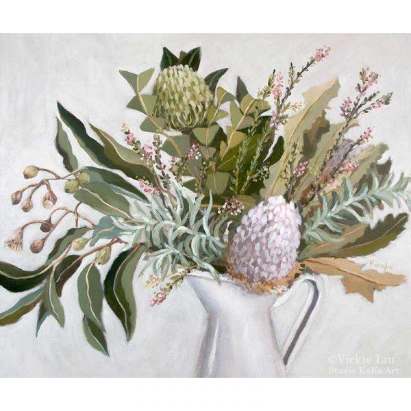 Wild Australian native bouquet art print