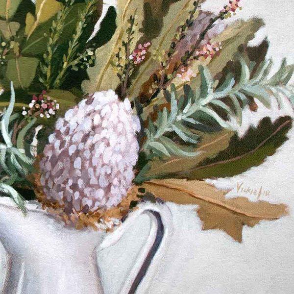 Wild Australian Flower Print Detail