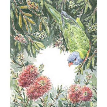 Rainbow Lorikeet Original Watercolour Painting