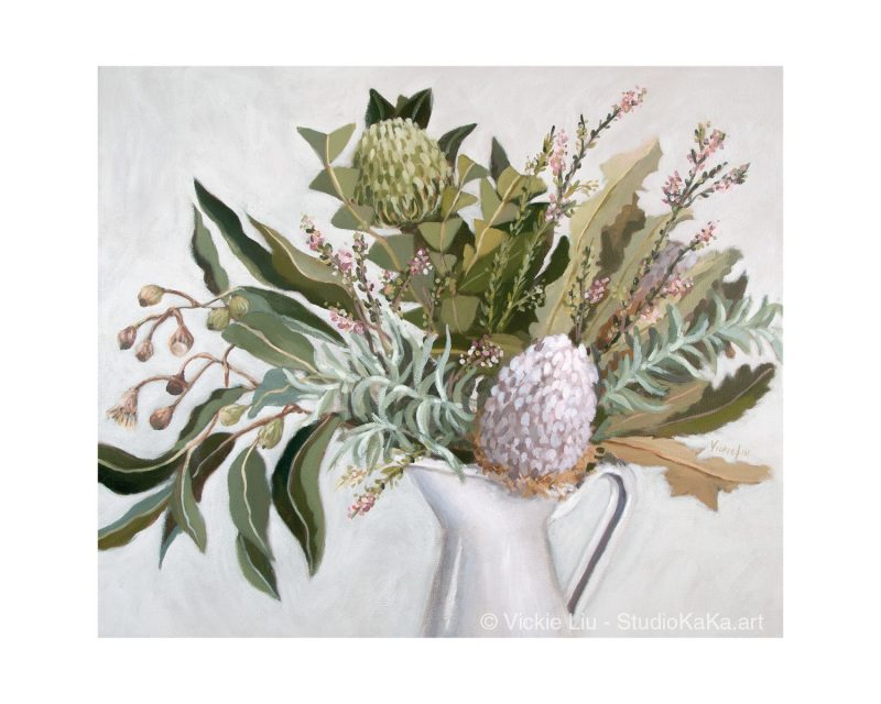 Wild Australian Bouquet Still Life Art