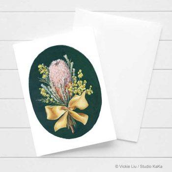 Banksia & Wattle Card