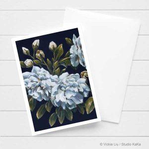 Dark Roses Floral Card